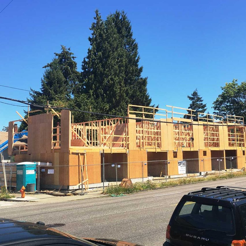 Blackbird townhomes under construction