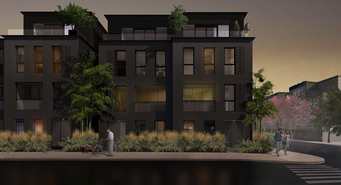 28th and Thurman Townhomes Exterior Rendering
